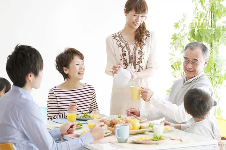 家族と一緒の食事できる幸せ